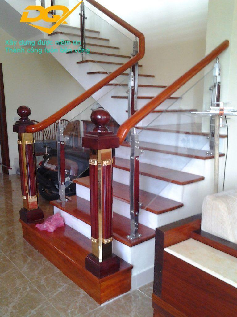 Cầu thang kính hiện đại#4