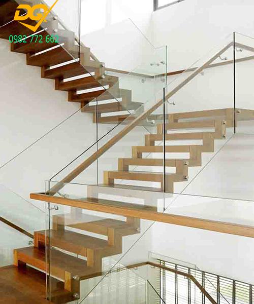 Cầu thang kính hiện đại#18