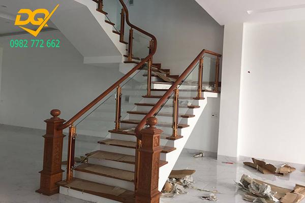 Cầu thang kính hiện đại#21
