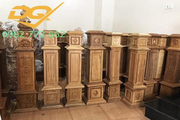 Trụ cầu thang gỗ vuông#4