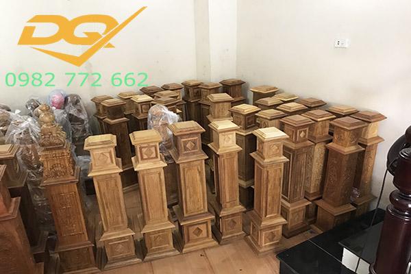 Trụ cầu thang gỗ vuông#13