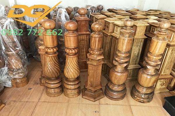 Trụ gỗ cầu thang gỗ lim nam phi - Mẫu 23