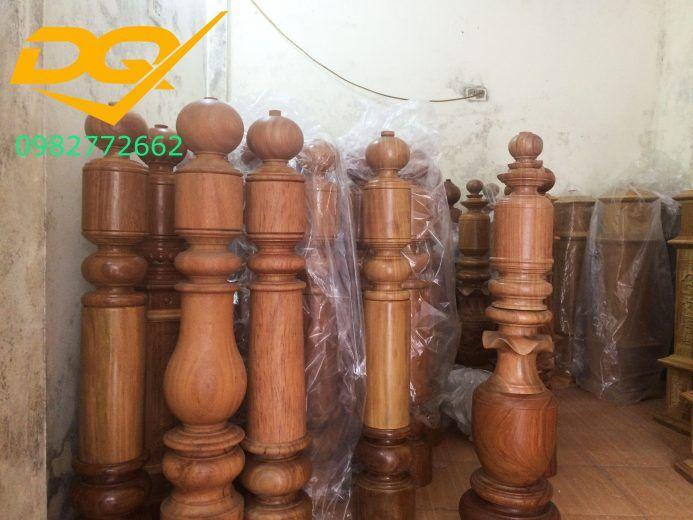 Trụ gỗ cầu thang gỗ lim nam phi - Mẫu 5