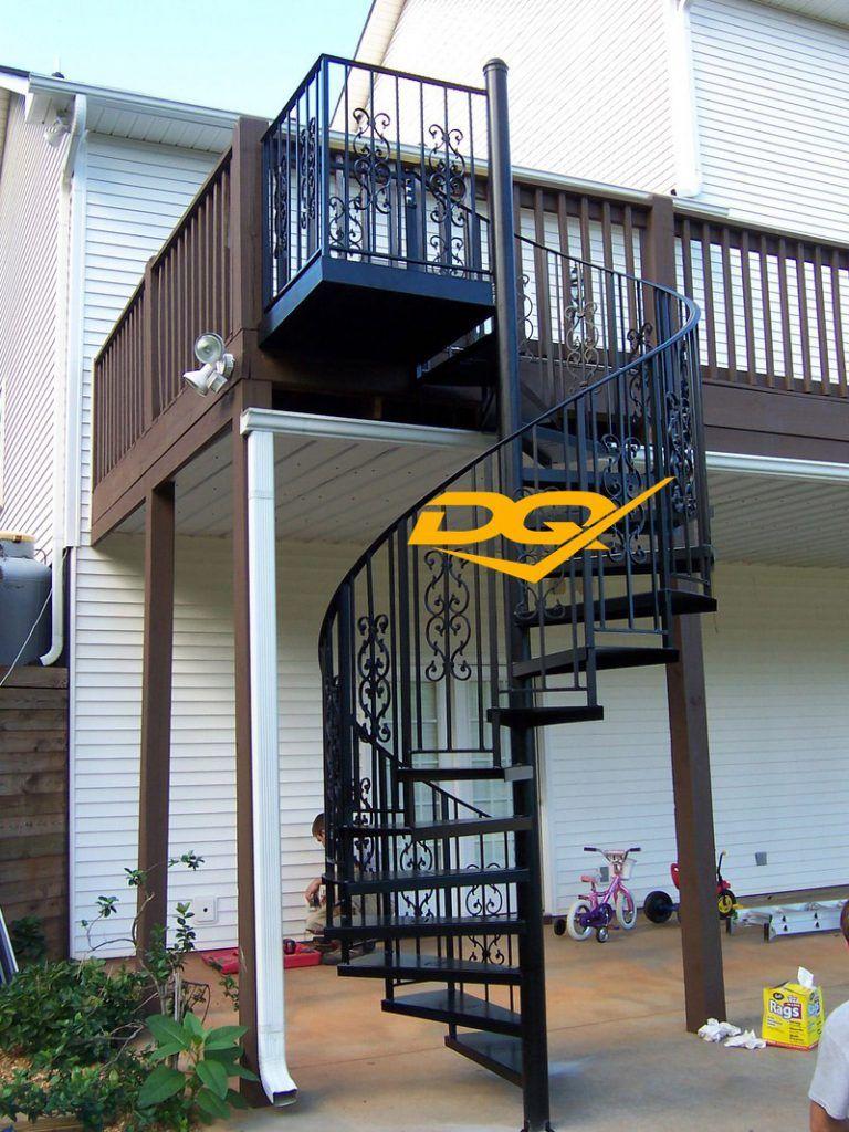 Cầu thang xoắn ốc bằng sắt#3
