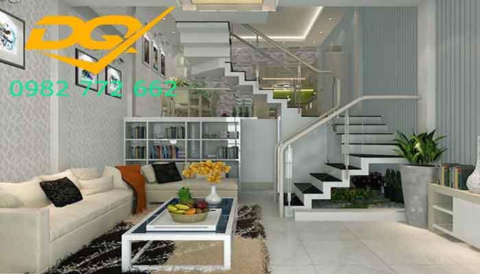 Cách trang trí phòng khách có cầu thang tuyệt đẹp