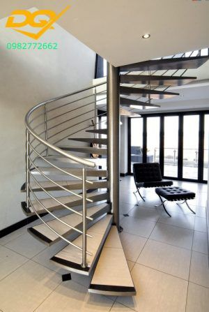 Cầu thang inox xoắn – Giải pháp tối ưu cho nhà phố