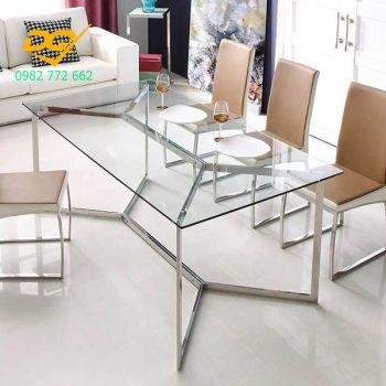 Mẫu bàn ghế Inox đẹp và sang trọng - 1