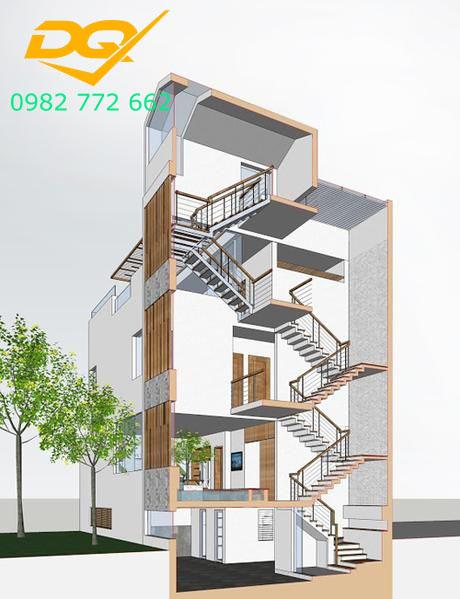 Cầu thang nhà lệch tầng#3