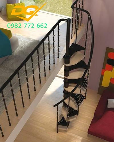Cầu thang xoắn ốc cho nhà hẹp#5