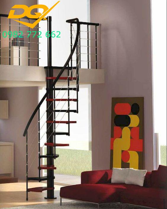 Cầu thang xoắn ốc cho nhà hẹp#6