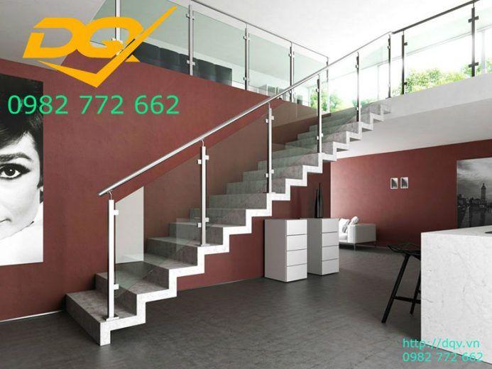 Những mẫu cầu thang inox đơn giản dẹp nhất hiện nay-Mẫu 12