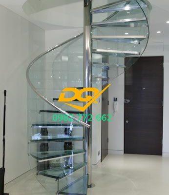 Nhận thiết kế thi công cầu thang hình xoắn ốc đẹp
